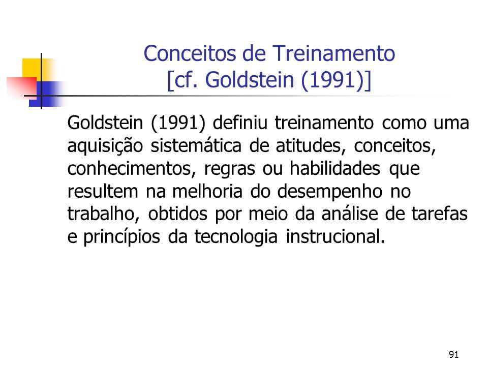Conceitos de Treinamento [cf. Goldstein (1991)]